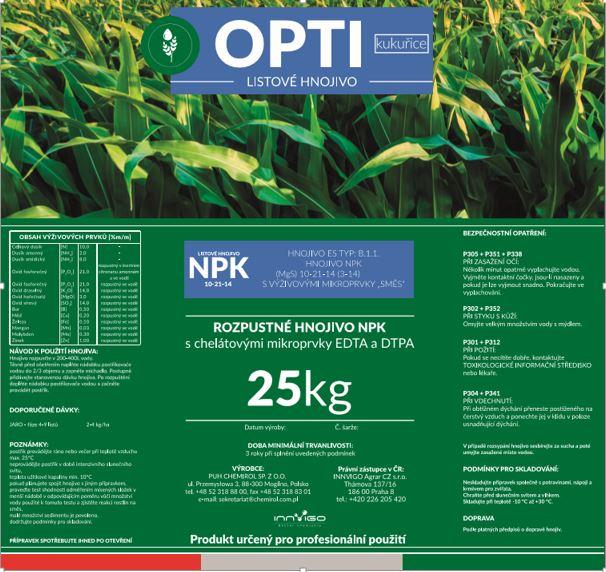 OPTI Kukuřice - etiketa