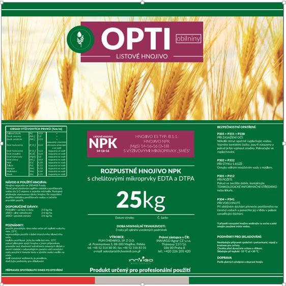 OPTI Obilniny - etiketa